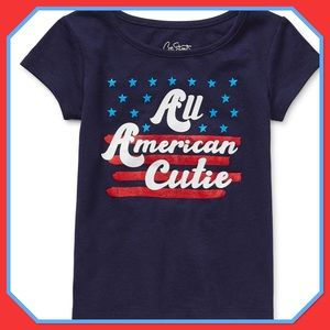 """❣️NWT❣️Toddler Girl's """"All American Cutie"""" T-Shirt"""